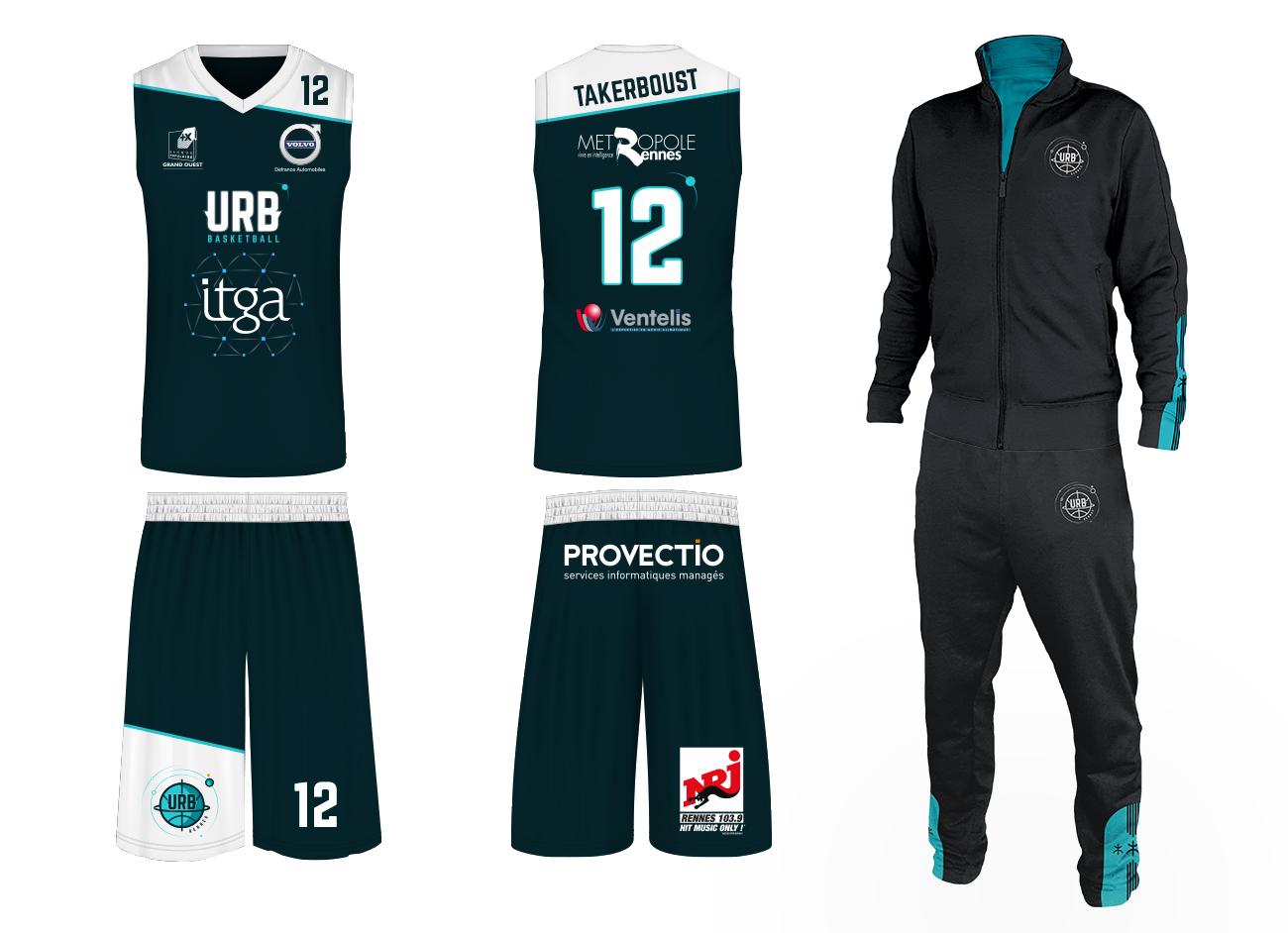 Textile equipe basket